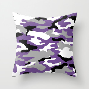 Camouflage Fashion Throw Pillow Violet