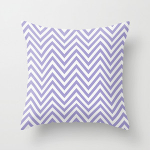 Chevron Fashion Throw Pillow Violet
