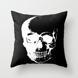 Forensic Skull Throw Pillow