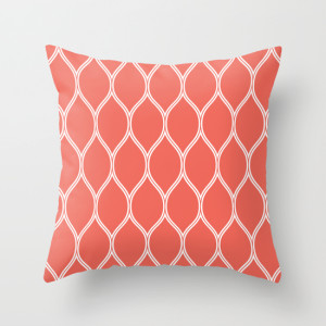 Teardrop Fashion Throw Pillow Coral