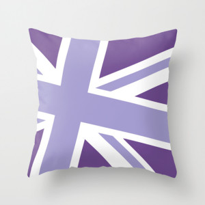 Union Jack Fashion Throw Pillow Violet