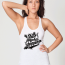 Not Photoshopped women's tank white