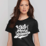 Not Photoshopped women's tshirt black
