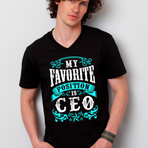 My Favorite Position Is CEO Men's vneck black