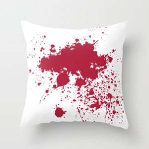 Forensic Blood Splatter Throw Pillow
